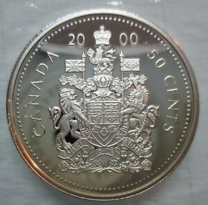 2000 canada 50 cents proof silver half dollar coin for 2000 dollar cabin