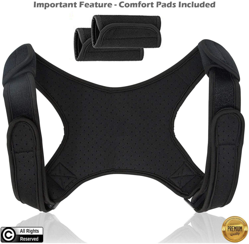 Posture Corrector for Men and Women   Discreet Under Clothes Comfortable Eff