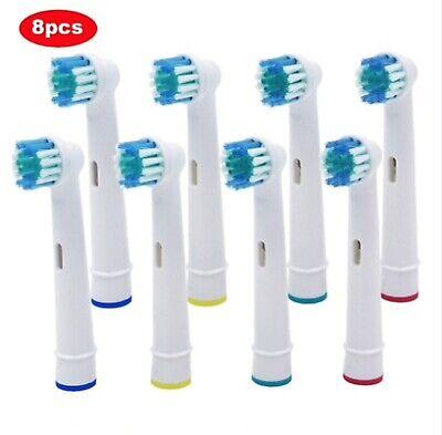 8 x Recambios Compatibles Con Cepillo de Dientes Eléctrico Oral B Braun...