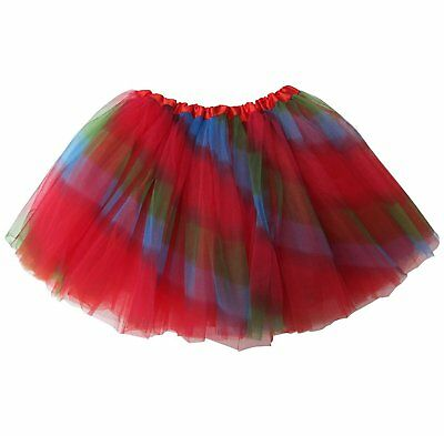 NEW girl halloween costume tutu SKIRT RED rainbow 3-6 YRS - Rainbow Girl Halloween Costume