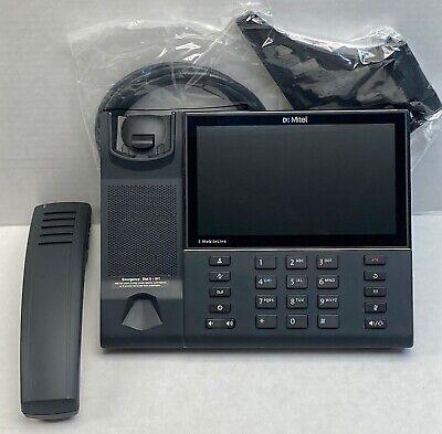 Mitel Mivoice 6940 Ip Phone Bluetooth Handset 50006770 Stand Cord Excellent
