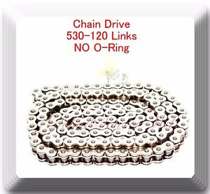 Chrome Plated 530-120 Link No O-Ring Chain Motorcycle fit Harley Sportster Dyna