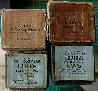 Pianola Piano Rolls x 4 All are One-Steps, a form of lively March tune