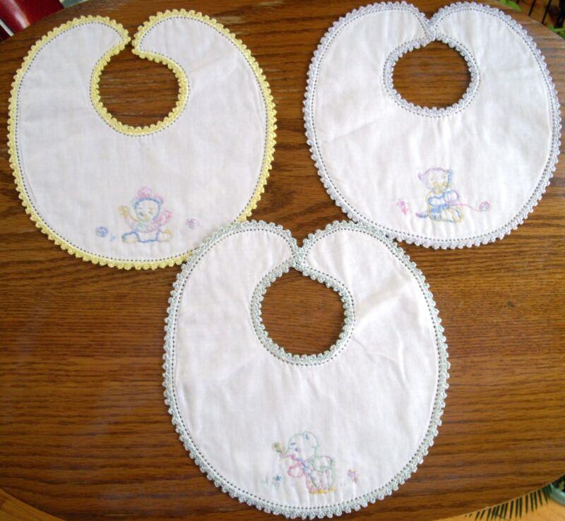 Vintage Embroidered Baby Bib ~ Ur CHOICE ~