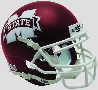 MISSISSIPPI STATE BULLDOGS NCAA Schutt XP Authentic MINI Football Helmet (SATIN)