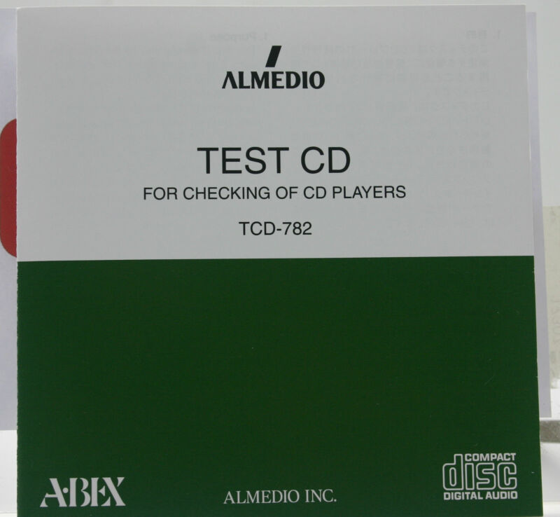 ABEX TEST CD/TCD-782;SERIES/FOR ADJUSTING & CHECKING THE PLAYER