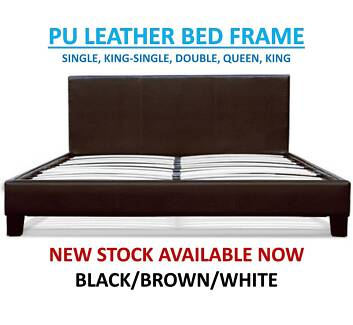 Brand New PU Leather Beds ALL SIZES – FREE DELIVERY