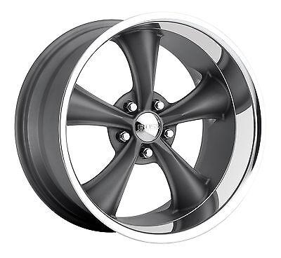 "CPP Boss Motorsports style 338 wheels rims, 18x8 front + 18x9.5 rear, 5x5"" gray"