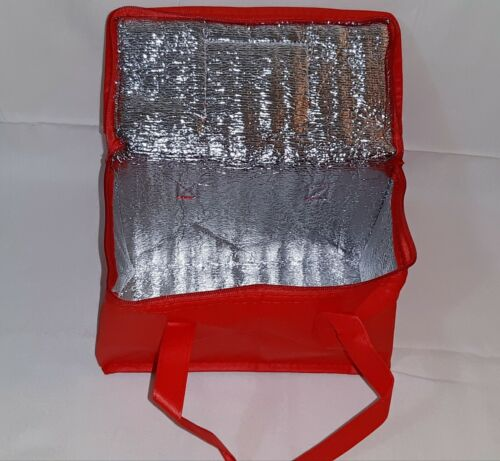 Small/Medium Insulated Food Delivery Bag Red