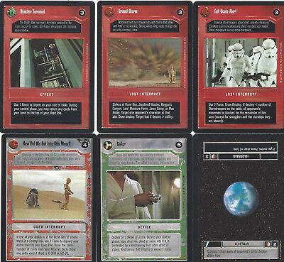 6 cards Star WARS Customizable Card Game CCG - genau die auf dem Scan 2