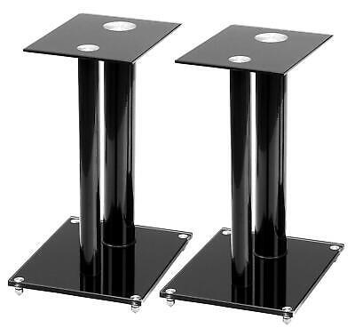Profesional 2x Soporte altavoces de altavoz mueble Base torre Pie de cristal