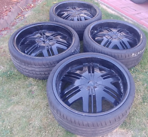 "22"" Black tires for charger, 300, etc"