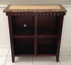 Marble topped timber bookcase Kedron Brisbane North East Preview