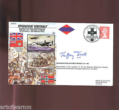 JS50/45/3  OPERATION VERITABLE- Reichwald ,8 Feb 1945, signed RAF WW2 comm.cover