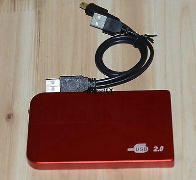red USB2.0 120GB External Hard Drive HDD Portable Laptop Mobile Hard Disk 120gb Mobile Hard Drive