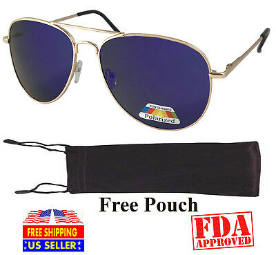 Polarized Mirror Spring Hinge Sunglasses Aviator Driving Best Style For
