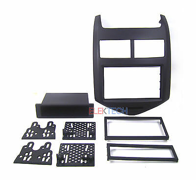 Double DIN with Pocket Radio Dash Replacement Kit for 2012-2014 Chevrolet Sonic Din Pocket Kit