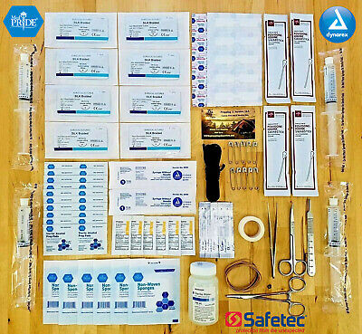 FIRST AID TRAUMA KIT SALINE SUTURE PACK MEDICAL SUPPLY REFILL ITEMS INSTRUMENTS