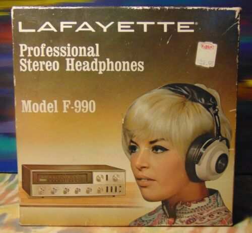 Lafayette - Professional Stereo Headphones - Model F-990 - Vintage with Box