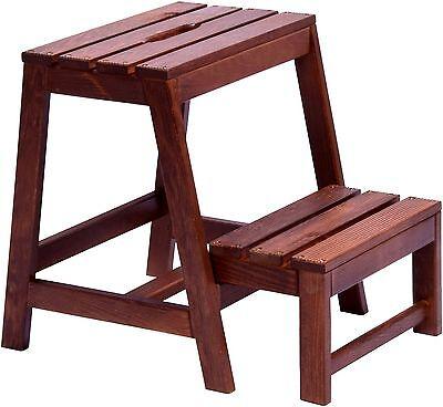 Klapptritt Tritthocker Klapphocker aus Holz Hocker klappbar Trittleiter 2 Stufen