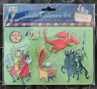 NEU Vincelot Malschablonen Set Ritter OVP Schablonen Ritter Malen