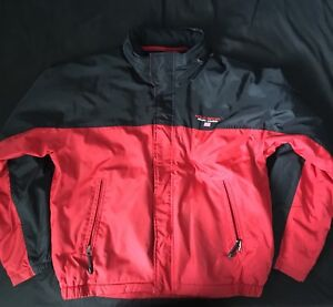 Ralph Lauren Polo Sport Men's Jacket Size Large Red and Black