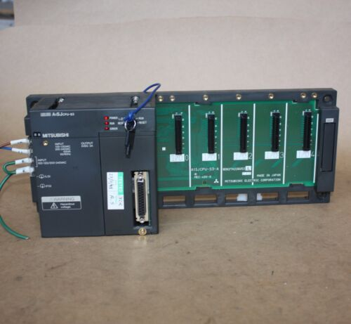 Mitsubishi MELSEC A1SJCPU-S3 CPU PROCESSOR UNIT CONTROLLER 5 Slot Rack PLC