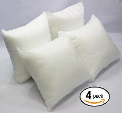 "Set of 4 - 18"" X 18"" Sham Stuffer Square Pillow Form Insert Polyester,Standard"