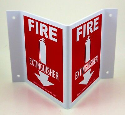 Lot Of 18 Brady 45368 V Fire Extinguisher Signs Brand New In Boxes 5.5 X 10