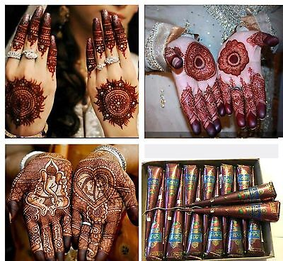 Kaveri natural herbal henna cone temporary tattoo body art kit and oil free