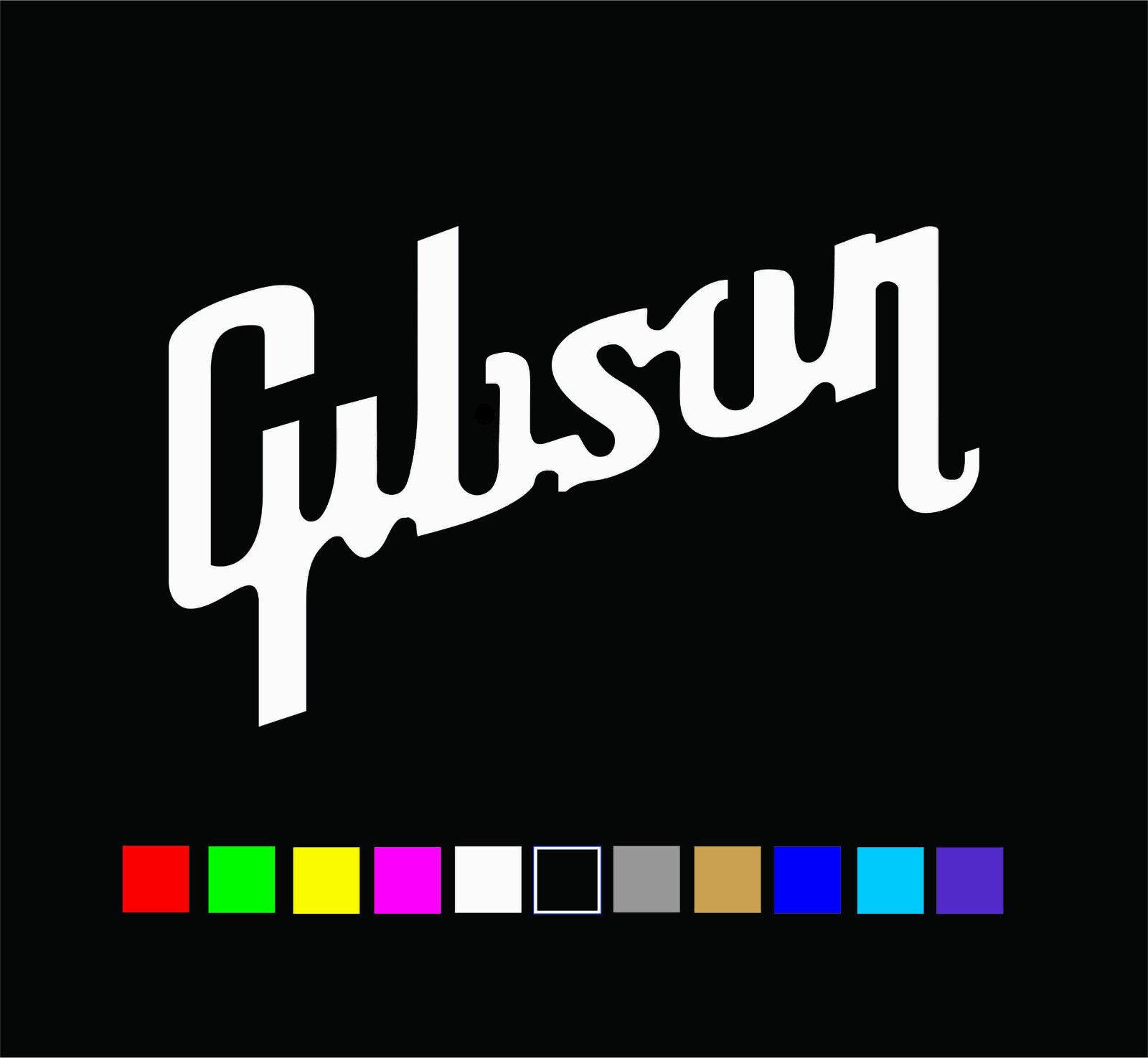 Home Decoration - GIBSON Guitar Logo Vinyl Decal Die Cut Sticker
