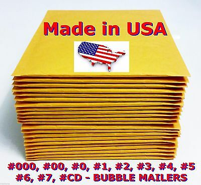 250 0 6.5x9.5 Bubble Mailers Padded Envelopes Bags Cd Dvd - Free Shipping 0