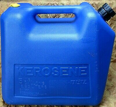 Blitz Blue Plastic 5 Gallon Kerosene Container Can - Usa Made Wexpansion Vent