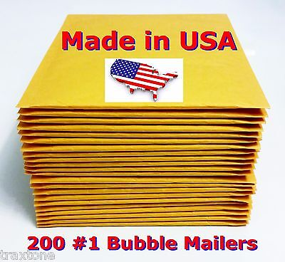 200 1 7.25x12 Bubble Mailers Padded Envelopes Bags Usa Free Shipping 1