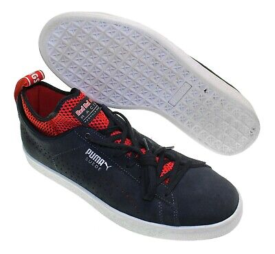 NEW - PUMA Men's RED BULL RACING Black/Red SUEDE SNEAKERS - US 10.5 / EU 44
