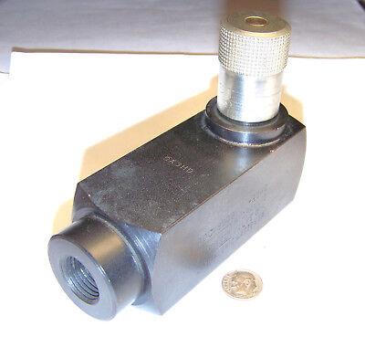 Parker Pccm800s Used 12 Female -8 Nptf Hydraulic Metering Valve 14 Tpi Steel