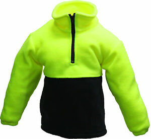 NEW-BARDEN-KIDS-SAFETY-HI-VIS-POLAR-FLEECE-JUMPER-CHILDRENS-WEAR-SIZES-4-12