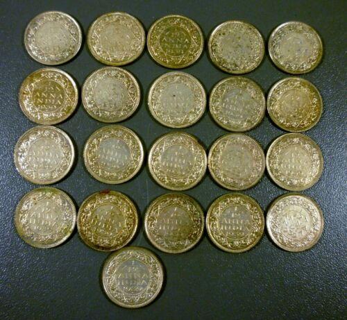 Lot Of 21 British India 1939 1/12 Anna Coins