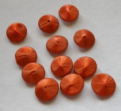 Alte Seidenknöpfe Knöpfe Knopf für Puppen Kleidung terrakotta  8mm