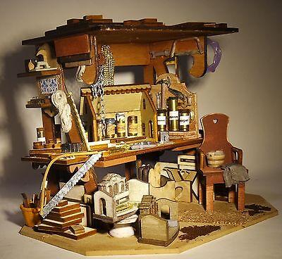 Papas Spielzeug-Bastelecke,Werkstatt mit Puppenhäusern fürs Puppenhaus 1:12