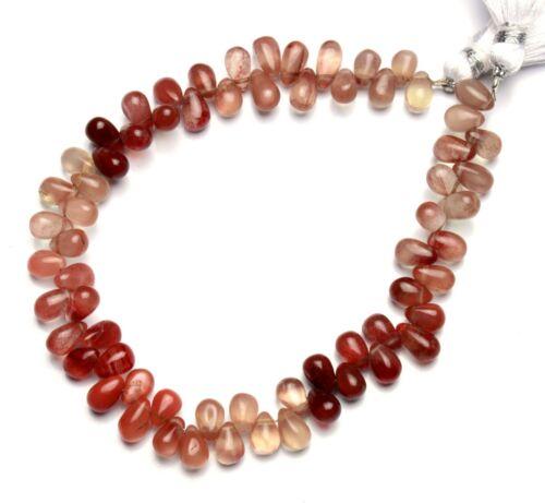 "Natural Andesine Labradorite Gem 7x5mm Size Smooth Teardrop Shape Beads 9"""