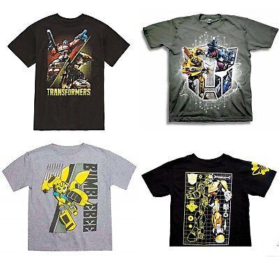 BUY 1 GET 1 50% OFF TRANSFORMERS BUMBLEBEE OPTIMUS Tee T-Shirt Boys Sz. 4-12 $16](Transformers Boy)
