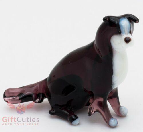 Art Blown Glass Figurine of the Border Collie Sheltie dog