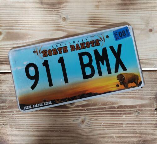 USA Nummernschild/Kennzeichen/license plate/US car/ Harley * North Dakota 911*