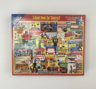 """White Mountain 1000 Piece Jigsaw Puzzle """"I had One of Those!"""" Complete USA"""