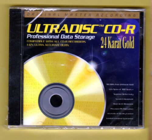 MFSL ULTRADISC BLANK 24 KARAT GOLD CD-R SEALED OOP
