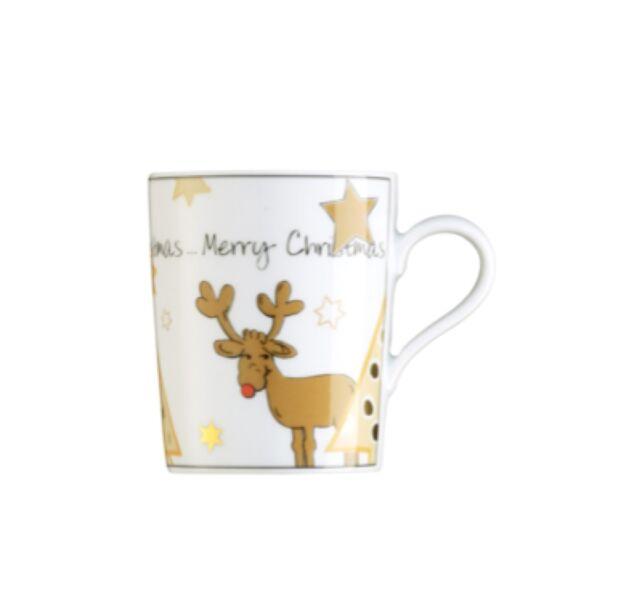 Arzberg Tric  Santas Reindeer Henkelbecher Kaffeebecher Becher Mug 0,31l Neu