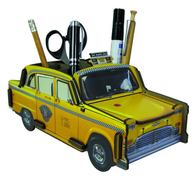 "Werkhaus Stiftebox New York Taxi ""Yellow Cab"" Taxi Büro Schulbedarf"
