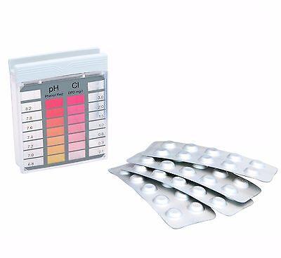 Pooltester Chlor + pH Tabletten Pool Testgerät Wasser Testkit Schwimmbad Tester