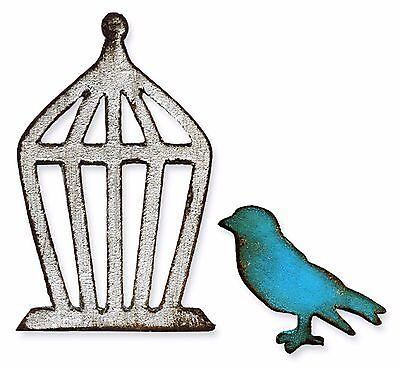 Sizzix Mini Bird & Cage magnetic die set #657207 MSRP $15.99 designer Tim Holtz!